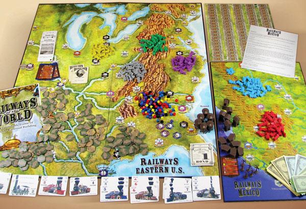 """Žaidimo """"Railways of the World"""" komponentai"""